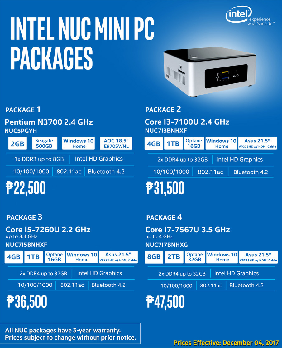 intel nuc packages